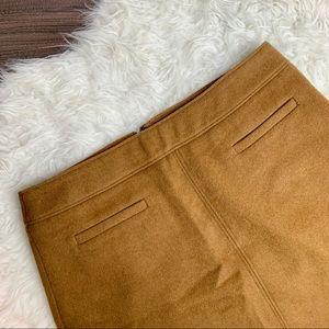 LOFT Camel Tan Woolblend Mini Skirt